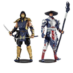 Mortal Kombat Scorpion & Raiden 7In Scale Action Figure 2 Pack