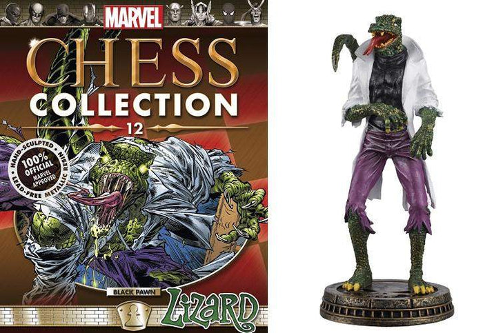 Marvel Chess Figure Collector Magazine #12 Lizard Black Pawn