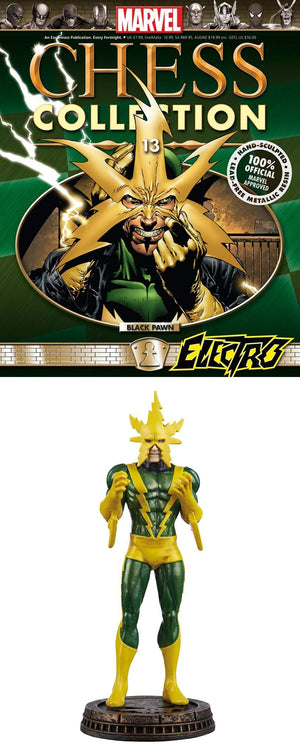Marvel Chess Figure Collector Magazine #13 Electro Black Pawn