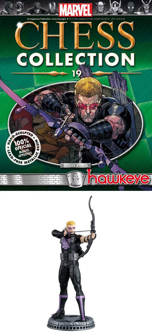 Marvel Chess Fig Collector Magazine #19 Hawkeye White Pawn