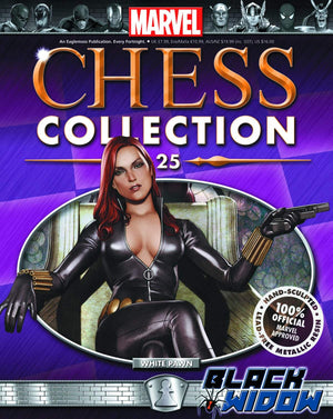 Marvel Chess Fig Collectors Magazine #25 Black Widow White Pawn