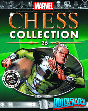 Marvel Chess Figure Collector Magazine #26 Quicksilver White Pawn