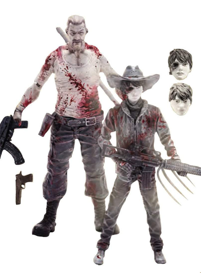 Walking Dead Series 4 Previews Exclusive Carl/Abraham  2-Pack