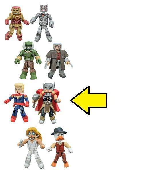 Marvel Minimates Series 64 Secret Wars - Captain Marvel and new Thor