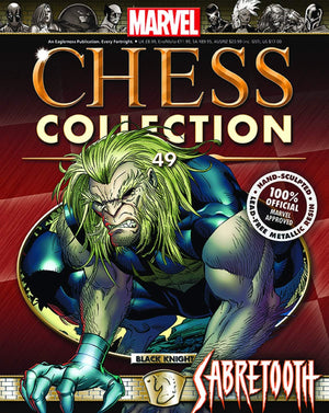 Marvel Chess #49 Sabretooth Black Knight