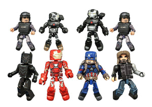 Marvel Minimates Series 66 - Battle Damaged War Machine and Navy Seal (Rare, one per case)