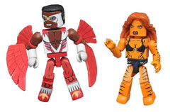 Tigra and Classic Falcon - Marvel Minimates Series 69