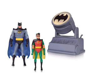 Batman Animated Series Batman & Robin with Batsignal 2 Pack