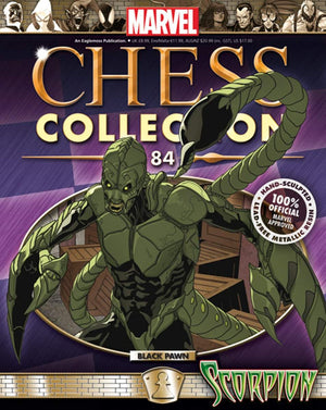 Marvel Chess Figure #84 Scorpion Black Pawn