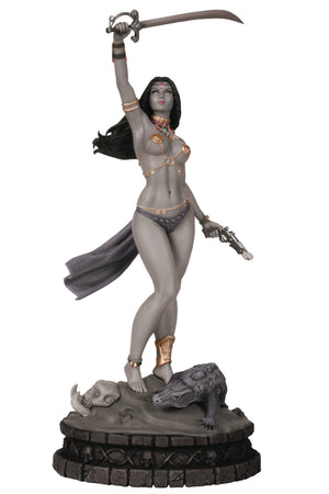 Women Dynamite Dejah Thoris Statue Black & White Edition
