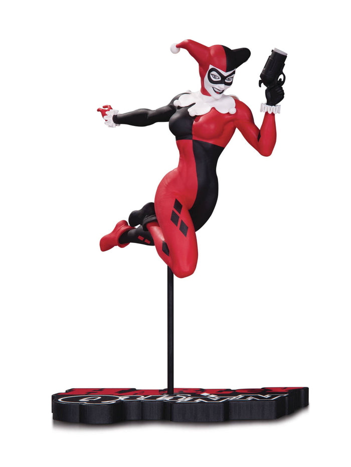 Harley Quinn Red White & Black Statue By Terry Dodson
