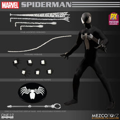 One-12 Collective Marvel Black Suit Spider-Man Px