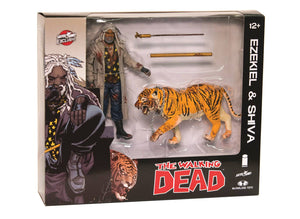 Walking Dead Ezekiel & Shiva All Out War 2-Pack (Bloody)