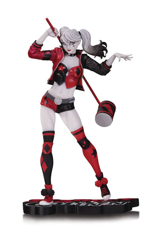 Harley Quinn Red White & Black Statue By Philip Tan