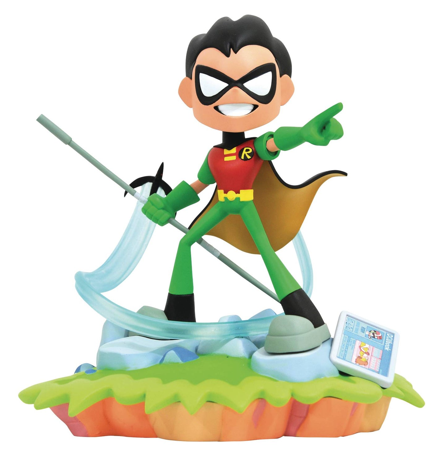 "NEW WITH TAG COMIC TEEN TITANS ROBIN PLUSH DOLL   19/""  TALL"
