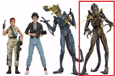 "Battle Damaged Xenomorph Warrior (Brown) - Aliens 7"" Scale Action Figure Series 12"