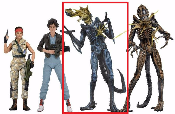 "Battle Damaged Xenomorph Warrior (Blue) - Aliens 7"" Scale Action Figure Series 12"