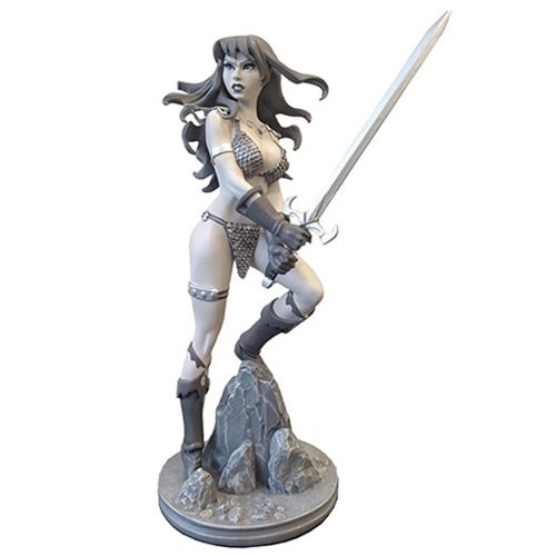 Red Sonja Amanda Conner Statue B&W Variant