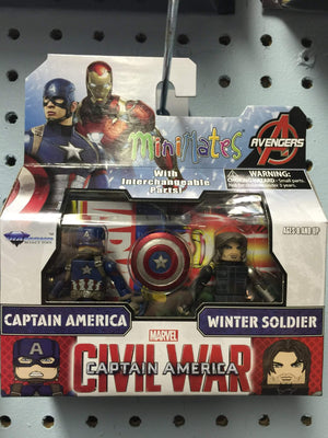 Marvel Minimates Series 66 Captain America with Winter Soldier