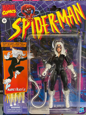 Spider-Man Retro Marvel Legends Black Cat 6-Inch Action Figure - Exclusive