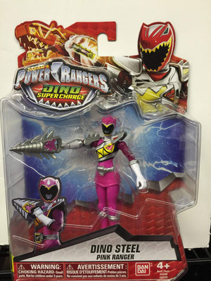 Dino Steel Pink Ranger - Power Rangers Dino Super Charge 5In Action Figure