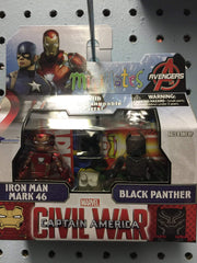 Marvel Minimates Series 66 Iron Man with Black Panther