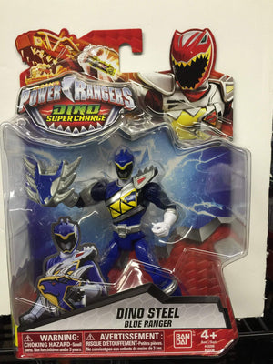 Dino Steel Blue Ranger - Power Rangers Dino Super Charge 5In Action Figure