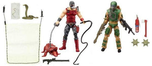 Swamp Steam - Blowtorch vs. Python Patrol Croc Master - GI Joe 50th 2 Packs