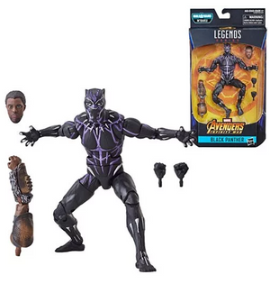 Vibranium Black Panther - Black Panther Marvel Legends Wave 2 (M'Baku BAF)