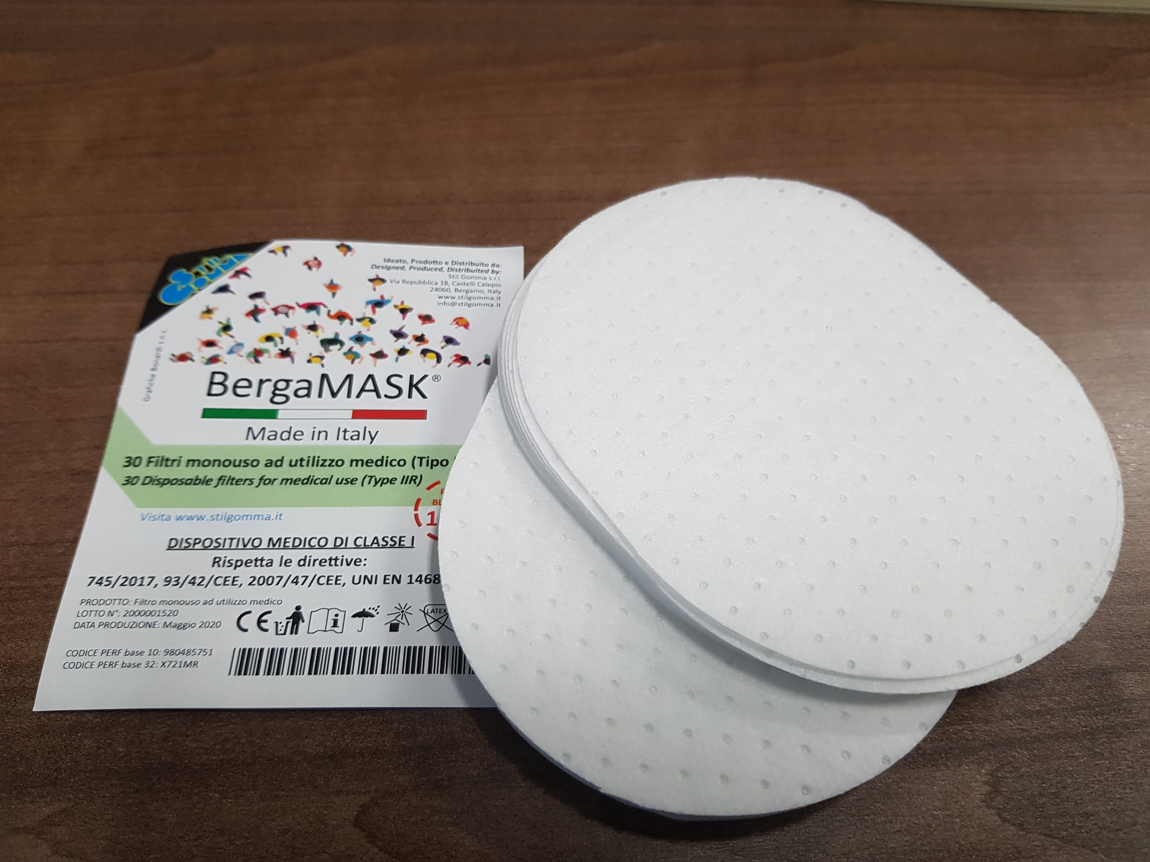 BergaMASK ® ADULT SIZE WITH GENERIC AND IIR TYPE FILTER