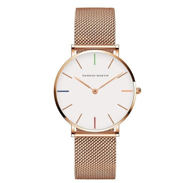 Stainless Steel Rose Gold Waterproof Watch