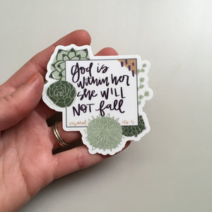 Vinyl Sticker - God is Within Her