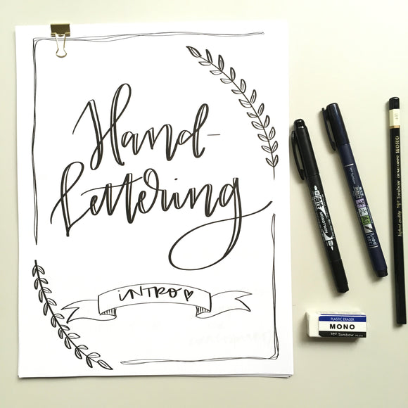 Hand-Lettering Handbook & Upgraded Tools