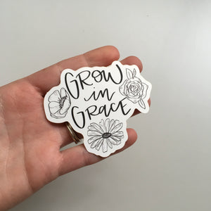 Vinyl Sticker - Grow in Grace