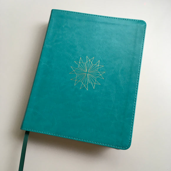 Teal and Gold Journaling Bible