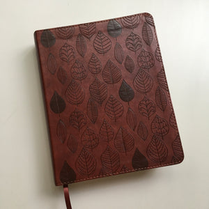 Chestnut Leaf Journaling Bible