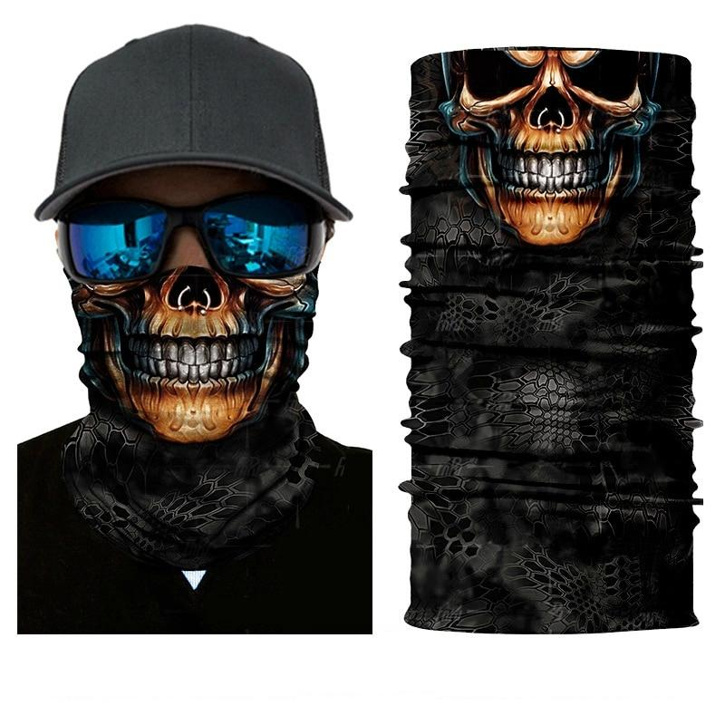 Light and Seamless Skull Design Neck Gaiter