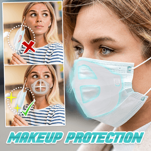 Silicone 3D Face Mask Bracket Lipstick Protection