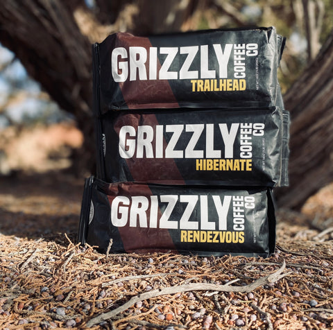 Grizzly Coffee Co Logo, Coffee Bags, Ground Coffee, Whole Bean Coffee, Gift Baskets, Coffee Gifts, Coffee Ideas for Gifts