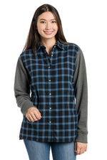 Load image into Gallery viewer, Aria | Women's Long Sleeve Flannel Tunic