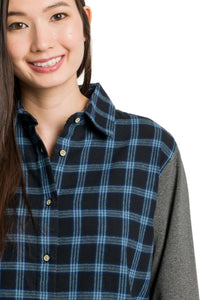 Aria | Women's Long Sleeve Flannel Tunic
