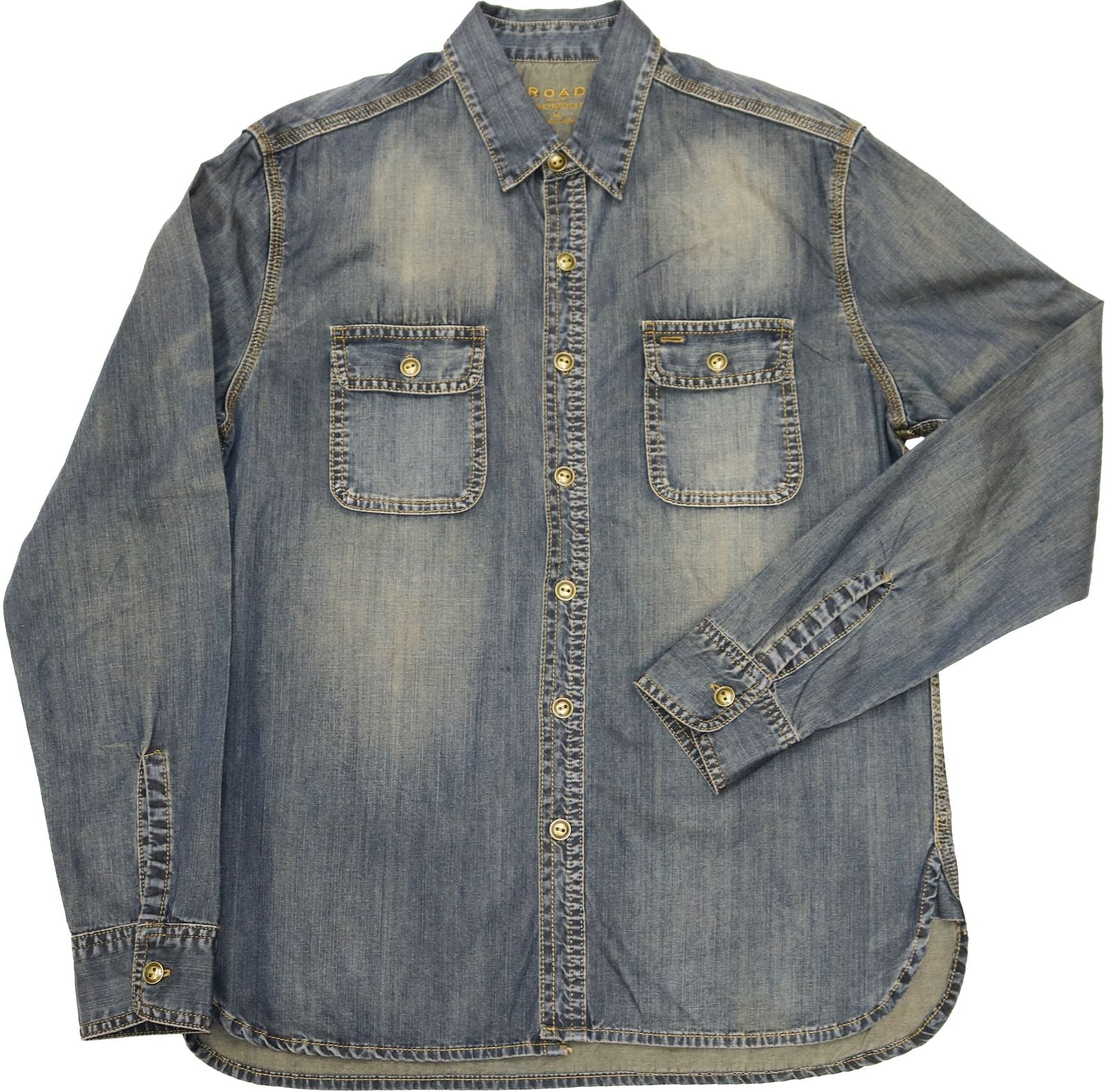 Ale - Cotton Slub Denim Long-Sleeve Shirt