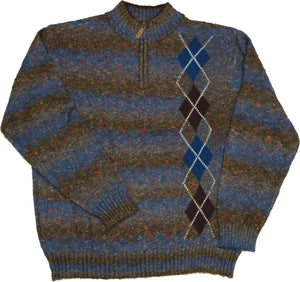 Men's Engineered Argyle Sweater