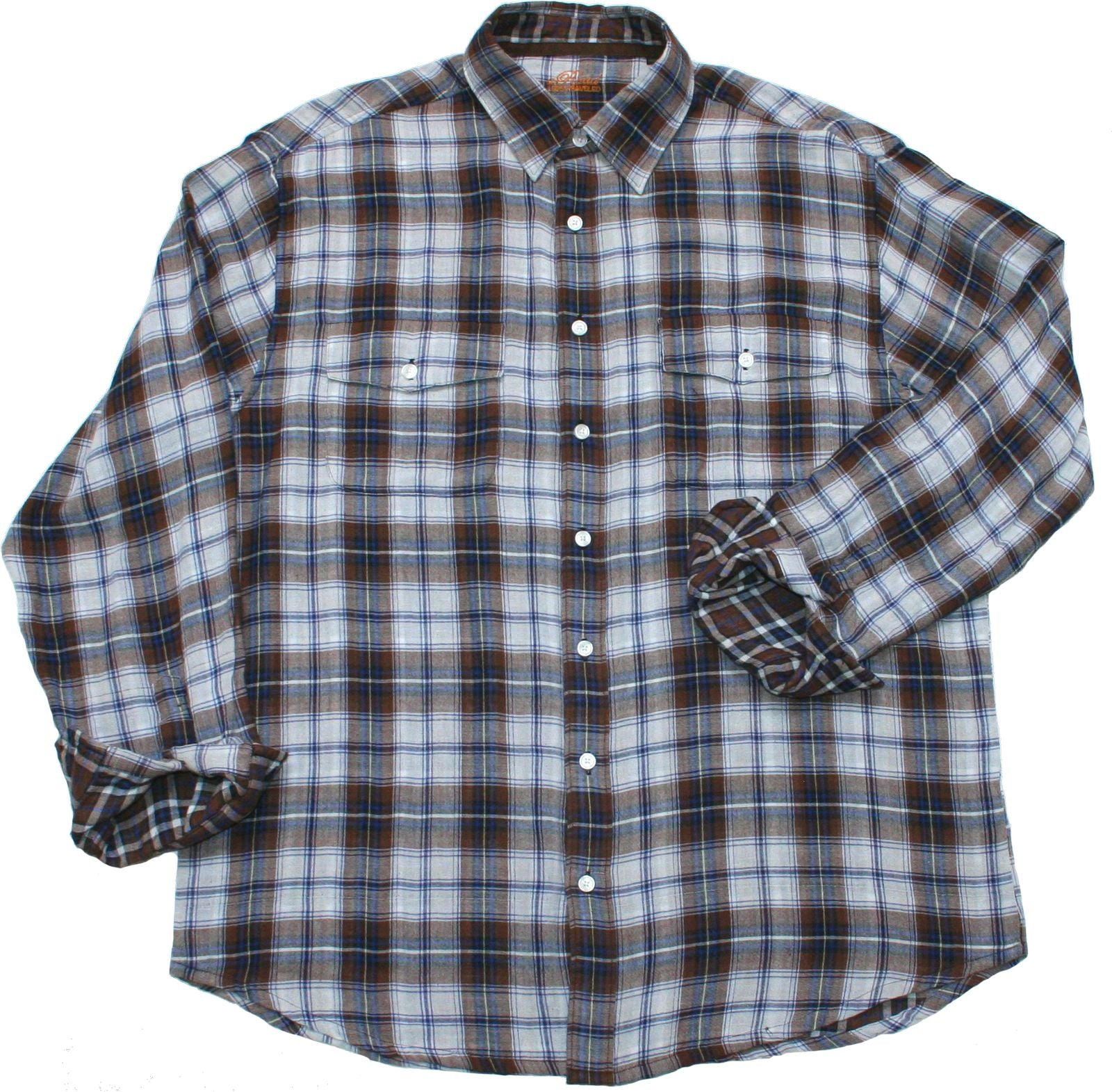 Hutton - 100% Cotton Dual Plaid Shirt