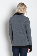 Load image into Gallery viewer, Luna A | Women's Plated Knit Cowl Neck Pullover