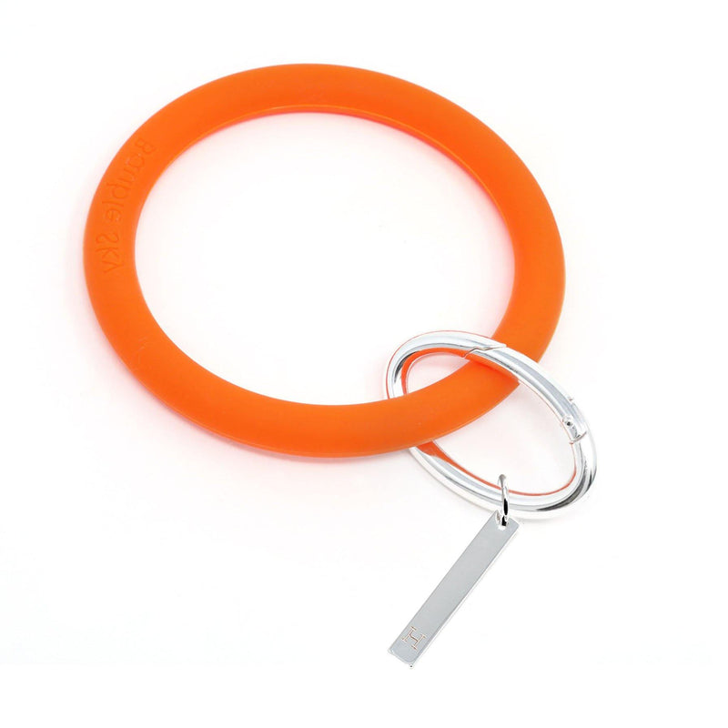 Personalized Silicone Keyring Bracelet with Bar - Bauble Sky