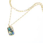 Abalone 2 Layer Necklace