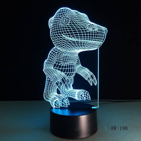 Lampe Hologramme Dinosaure