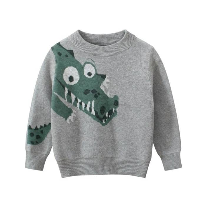 Pull dinosaure gris