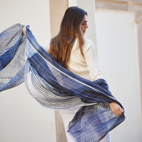 Studio Variously Sustainable Luxury Accessories brand making silk and cashmere in ethical way